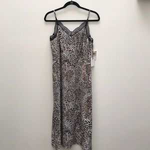 1.State never worn, lined animal print slip dress